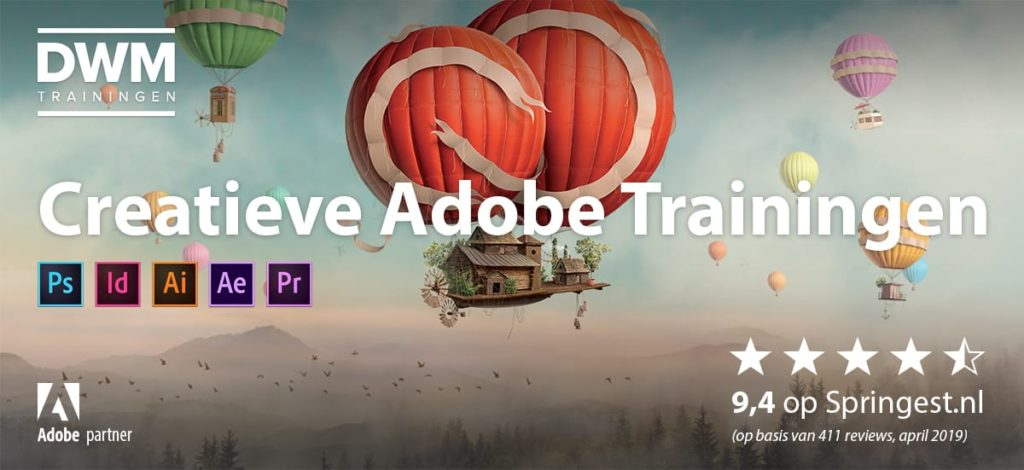Adobe cursussen en trainingen: Photoshop, Illustrator, InDesign, Premiere Pro en After Effects