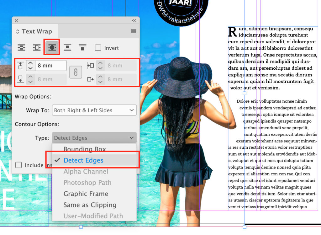 Tekstomloop in Adobe InDesign
