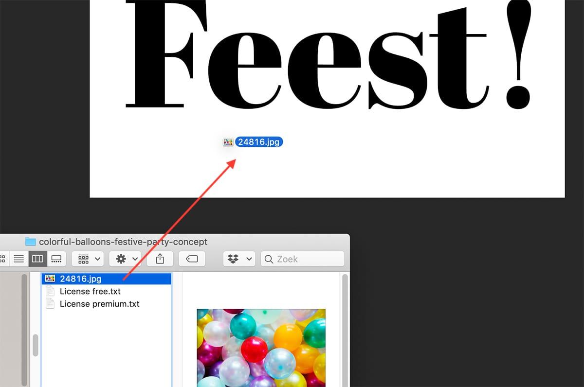 Stap 3: speel je foto in Photoshop via de Verkenner of Finder
