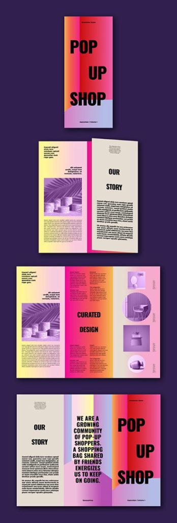 Download de gratis kleurrijke brochure op Adobe Stock