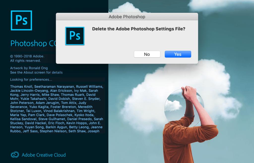 Photoshop voorkeuren opnieuw instellen