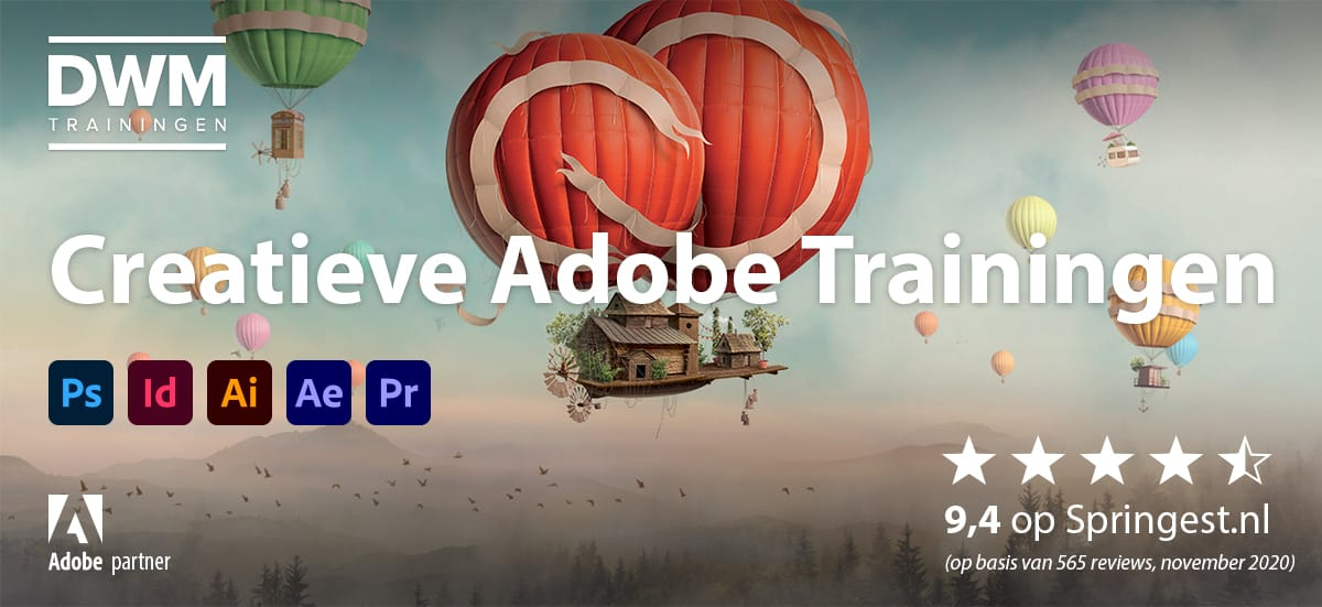Creatieve Adobe trainingen, 9,4 op basis van 565 reviews in november 2020 op Springest